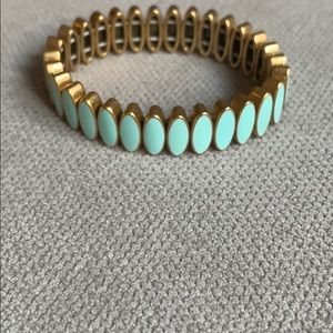 Jcrew aqua enamel bracelet